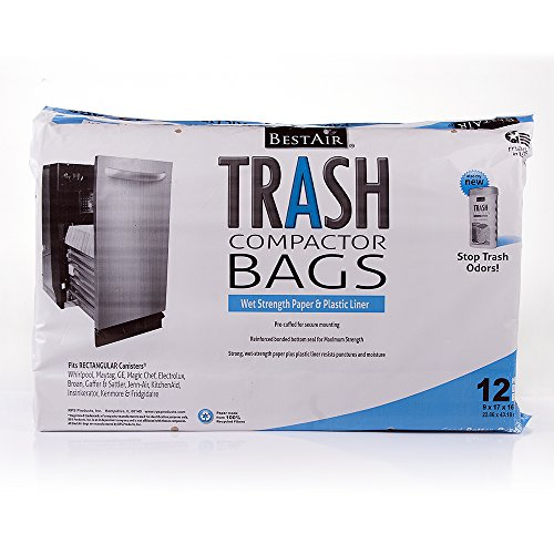 BestAir Trash Compactor Bags(16'' D. x 9'' W. x 17'' H,pack of 12) (Trash Compactors compare prices)