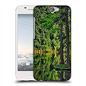 Snoogg Tall Trees On The River Side Designer Protective Phone Back Case Cover For HTC one A9