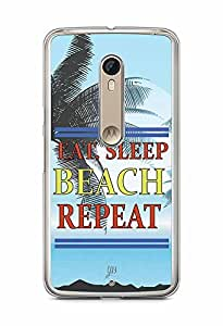 YuBingo Travel, Sleep, Beach, Repeat Designer Mobile Case Back Cover for Motorola X Style