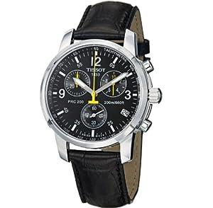 天梭手表海淘:Tissot 天梭男士不锈钢三眼手表 T17152652