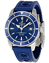 On Sale Breitling Men's A1732116/C832 SuperOcean Heritage Blue Chronograph Dial Watch Limited time