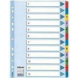 Leitz Kartonregister 1-12, A4, Karton, 12 Blatt, weiss