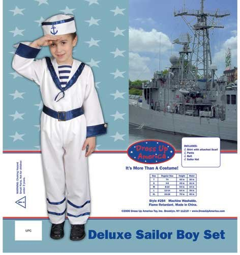Dress Up America Deluxe Sailor Boy Set Costume Set X-Large 16-18 284-XL