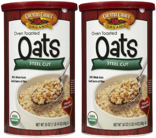 Country Choice Organic Oven Toasted Steel Cut Oats, 30 oz Canisters, 2 pk (Oven Toasted compare prices)