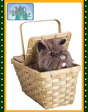 The Wizard of Oz Costume Accessory Toto in a Basket