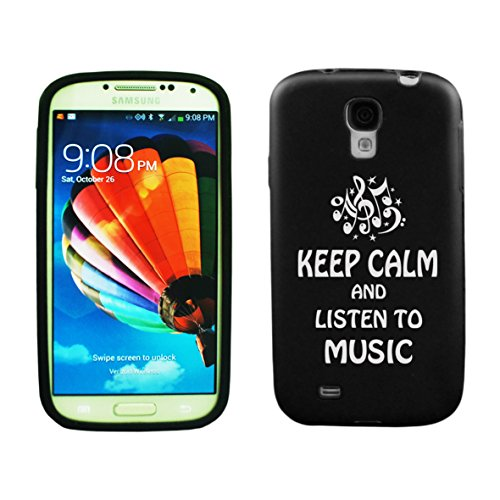 Samsung Galaxy S5 Aluminum & Silicone Case Keep Calm And Listen To Music - Lifetime Warranty (Black)