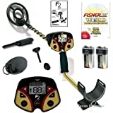"Fisher F2 Metal Detector with 8"" and 4"" Waterproof Coils + Free Pinpointer"