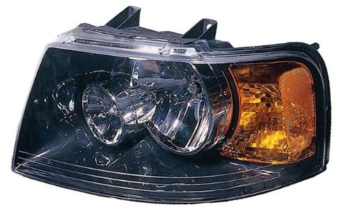 2003-2006 Ford Expedition Led Halo Projector Headlights /W Amber (Black)