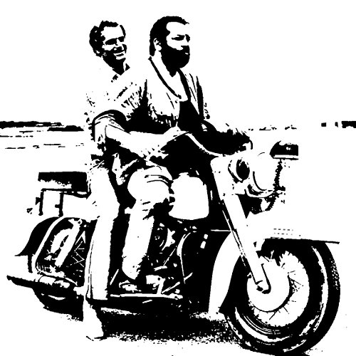 BUD SPENCER E TERENCE HILL in MOTO - QUADRO MODERNO DIPINTO A MANO SU TELA CANVAS POP ART EFFECT (formato 50 X 50 cm)