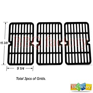 59411(3-pack) Stamped Porcelain Steel Cooking Grid Replacement for Select Brinkmann,... by bbq factory