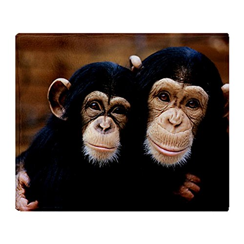 CafePress - Chimpanzees Throw Blanket - Soft Fleece Throw Blanket, 50