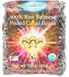 100% Raw Balinese Peeled CacaoBeans 16 Ounces