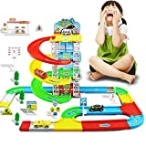 CHAKMEE Kid Car Parking Lot Move Model Indoor Toy
