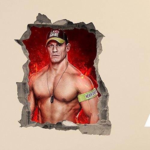 john-cena-in-wall-crack-wrestling-decal-sticker-art-kids-boys-bedroom-sticker-gift-wwe