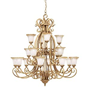 Kichler Lighting 1881GBR 16 Light Edenvale Chandelier, Golden Brulee