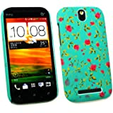 Emartbuy ® HTC One SV Rose Garden Clip On Protection Case / Cover / Skin