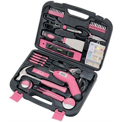 Apollo Dt0773N1 Pink 135 Piece Household Tool Kit (Apollodt0773N1 )