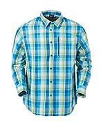 Izas Camisa Hombre Rud (Verde Claro / Azul)
