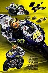 1art1 42663 Poster Sport Automobile Moto Gp 2008 Valentino Rossi 91 X 61 cm