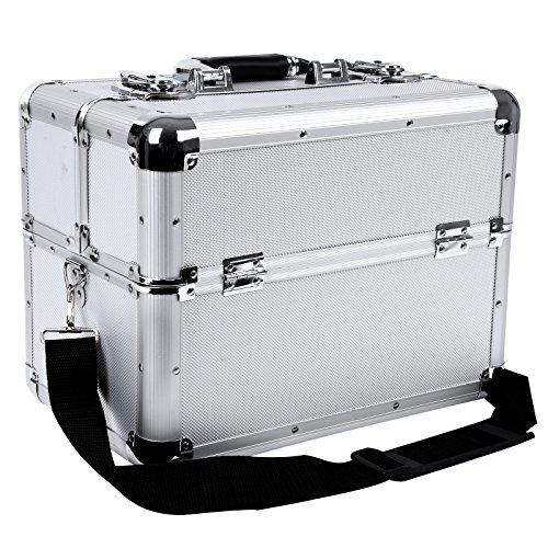 Songmics® make up Beauty Case Nail Art Valigia Cofanetto Porta gioie smalti portaoggetti 35 x 22 x 28 cm JBC226S
