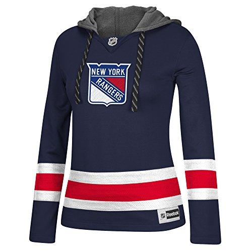 NHL New York Rangers Women's Jersey Crewdie Sweatshirt, Large, Navy (New York Rangers T Shirts compare prices)