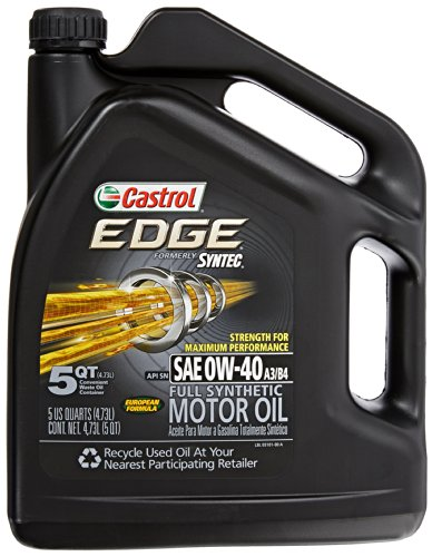 Castrol 03101 EDGE 0W-40 Synthetic Motor Oil - 5 Quart (Castrol Synthetic Engine Oil compare prices)