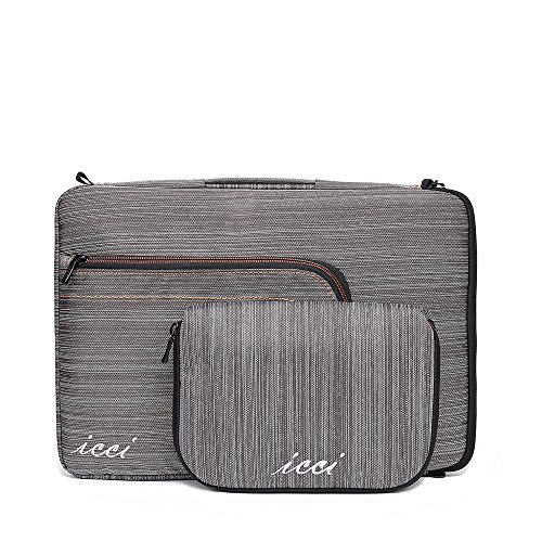 icci ShockProof Sleeve Custodia Borsa a tracolla Per PC portatili 35,8 cm (14 Pollici) Netbook / Laptop / Notebook Computer / Chromebook - Grigio