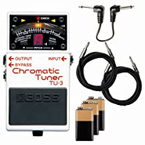Boss TU-3 Chromatic Tuner Stomp Box Bundle