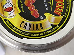 Tsar's Salmon (Red) Caviar 200 g (7 oz.). Pack of two jars