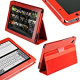 igadgitz 'Portfolio' Napa Echt Ledertasche Rot für Acer Iconia Tab A500 A501 10.1 Android Tablet 16gb 32gb Rezessionen