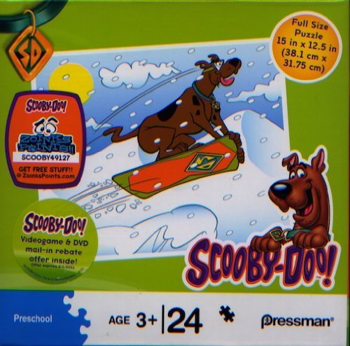 Cheap Pressman Toys Scooby-Doo 24 Piece Puzzle – Scooby Sledding in Snow (B004EI49X8)