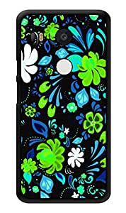 "Humor Gang Neon Flowers On Black Printed Designer Mobile Back Cover For ""Lg Google Nexus 5x"" (3D, Glossy, Premium Quality Snap On Case)"