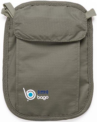 Bago-Neck-Stash-Travel-Wallet-RFID-Block-Passport-Holder-Secret-Pocket-Pouch