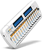 SunLabz® 16 Bay/Slot Smart Battery Charger for AA AAA NiCd NiHM Rechargeable Batteries