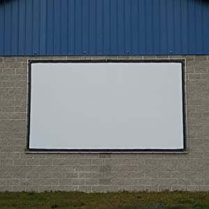Carl's Wall-Hanging DIY Projector Screen Kit, 9x12, Blackout Cloth Finished Edge Fabric & Components
