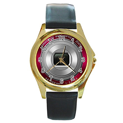 nikon-coolpix-digital-camera-synthetic-leather-band-gold-metal-watch
