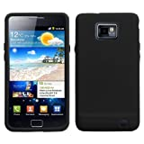 Solid Skin Cover (Black) for SAMSUNG i9100 (Galaxy S 2)