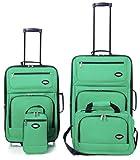 Hercules Jetlite 4-pc. Emerald Upright Luggage Set One Size Emerald