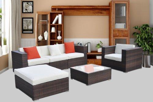 Goplus Wicker Rattan Outdoor Garden Furniture Coffee Sets Patio Sofa Chairs Lounge Waterproof