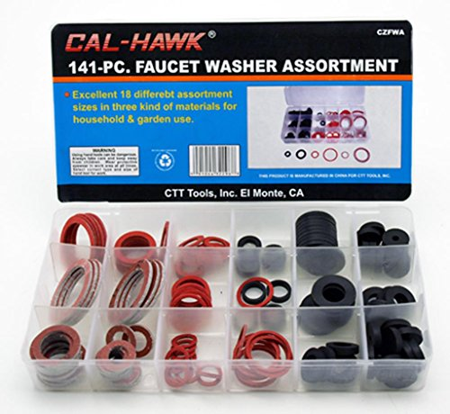 Cal Hawk CZFWA 141-pc. Faucet Washer Assortment Kit, 18 Differnt Assorted Sizes (Faucet Gasket compare prices)