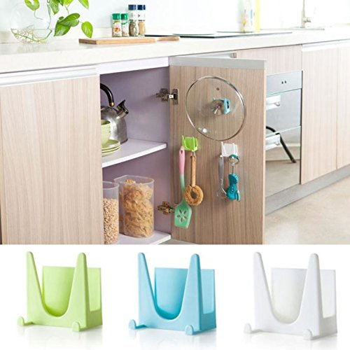 GreenSun(TM) Cooking Tool Hot 1PCS Plastic kitchen accessories Pot Pan Cover Shell Cover Sucker Tool Bracket Storage Holder Rack 30UY (Two Seater Hot Tub compare prices)