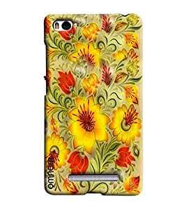 Omnam Yellow Flower Pattern Beautifully Printed Designer Back Cover Case For Xiaomi Mi4i
