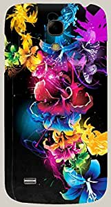 Dazzling multicolor printed protective REBEL mobile back cover for Samsung I9190 Galaxy S4 mini D.No.N-R-4300-S4M