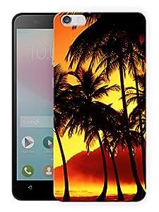 "Humor Gang Coconut Trees Sunset Dusk Printed Designer Mobile Back Cover For ""Huawei Honor 4X"" (3D, Matte, Premium Quality Snap On Case)"