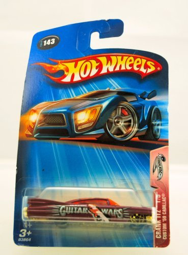 Hot Wheels - 2004 - Crank Itz - Custom 1959 Cadillac - 1 of 5 - #143 - Guitar Wars Paint Job - Limited Edition - Collectible 1:64 Scale - 1