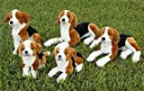 Beagle Dog Puppet 16 Inches (Pictured on Right Lying Down)