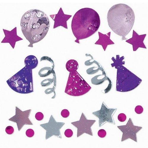 Pink Birthday Celebration Confetti Party Accessory