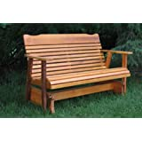 4' Cedar Porch Glider W/stained Finish, Amish Crafted