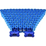 2200 Pet Waste Bags, Dog Waste Bags, Bulk Poop Bags on a roll, Clean up poop bag refills - (Color: Blue) + 2 FREE Bone Dispensers by Downtown Pet Supply