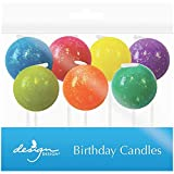 JAM Paper® Specialty Birthday Candles - Glitter Bombs Birthday Candle Set - (2 3/4 x 7/8 in) - 7 Candles per Pack